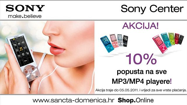 Akcija Sony MP3/MP4 playera