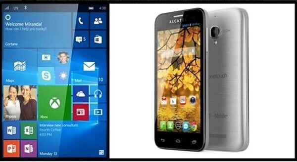 Alcatel OneTouch Fierce XL s Win10 Mobile certificiran 2